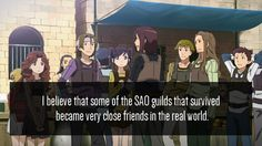Sword art online. I would think so.  Especially if some accidents happened in the guilds, it bring them all closer together.