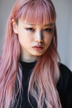 midnight-charm: Fernanda Ly New Digitals June 2016 Hair Color Blue, Pink Hair, Portrait Inspiration, Hair Inspiration, Corte Y Color, Grunge Hair, Dream Hair, About Hair, Belle Photo