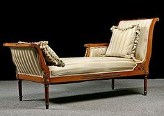 The Directoire Style/ Regency Empire-French Antique Empire Style Mahogany Meridienne Daybed-Regency and Empire styles took more than just aesthetic inspiration from the classics—they also borrowed the behaviors of ancient Greece and Rome.