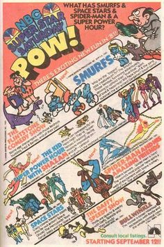 Saturday Morning Fever Podcast - comic book ad 1981 NBC cartoons Vintage Tv, Vintage Cartoon, Saturday Morning Cartoons, All In The Family, Kids Tv, 80s Kids, Tv Ads, Classic Cartoons, Gi Joe