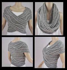 Peça de tricot versátil.
