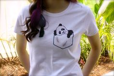 Hey, I found this really awesome Etsy listing at https://www.etsy.com/listing/152652290/panda-pocket-tee