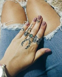 Finger tattoos via Catherine Franken