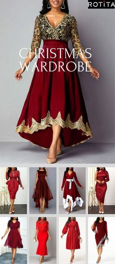 Not sure how to participate in Christmas Day without looking cheesy? Let the Rotita Christmas& Day outfit ideas ahead show you how.Dreaming Loud, features the ultimate Christmas gift guide for yourself. Red Dress Outfit, The Dress, Dress Outfits, Fashion Dresses, Cute Outfits, Prom Dresses, Christmas Day Outfit, Christmas Fashion, Christmas Dresses