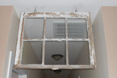 use for an old window . . . a kind of transom