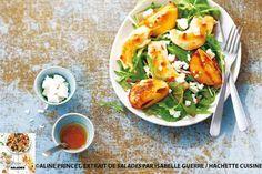 Salade de Poulet aux Pêches grillées et à la Feta