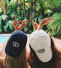 We just ~LOVE~ these Monogrammed Baseball Hats soooo much!!
