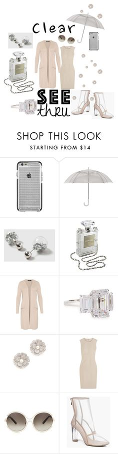 """""""It's ALL CLEAR Now: SEE THRU!"""" by mandimwpink ❤ liked on Polyvore featuring Case-Mate, Dorothy Perkins, Chanel, Hallhuber, Fantasia by DeSerio, Kenneth Jay Lane, MaxMara, Chloé, clear and Seethru"""