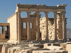 Erechtheion temple dedicated to both Athena and Poseidon.