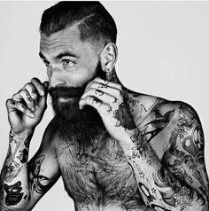 Ricki Hall Moustache by Mr Elbank Gallery London 2013 Beards And Mustaches, Moustaches, Hot Men, Sexy Men, Hot Guys, Ricki Hall, Beard Love, Full Sleeve Tattoos, Inked Men