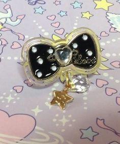 Twinkle Accessory Ring (Black Ribbon) from SWIMMER - Lolita Desu