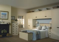 fitted wardrobes around a bed - Google Search