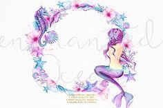 Enchanted Ocean - Watercolor Mermaid - Illustrations - 2