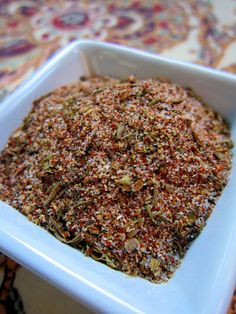 Creole / Cajun Seasoning: 5 teaspoons paprika 4 teaspoons fine sea salt 4 teaspoon garlic powder 4 teaspoons onion powder 2 tsp ground black pepper 1 tsp cayenne pepper (original recipe used 1/2 tsp) 2 tsp dried oregano 2 teaspoons dried thyme Combine all spices together and enjoy.