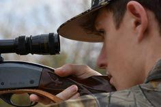 boy senior picture, gun, hunting, outdoors, scope, shooting,