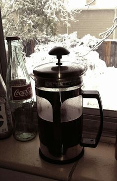 Nothing like fresh coffee on the morning of the first real snow.