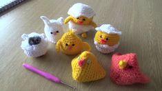 Crochet Easter Egg Holders Chicks, Rabbit and Sheep