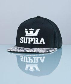Supra-Above Snapback Black/Snake