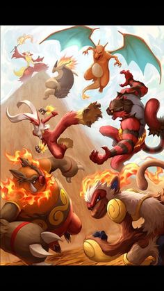 Fire type pokemon starter