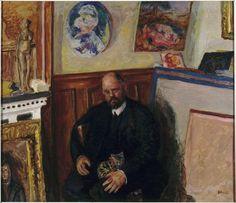 Ambroise Vollard et son chat / Pierre Bonnard