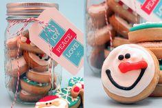 adorable and simple cookie idea...love the mason jar, too