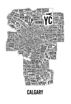 Calgary Neighbourhoods Map.