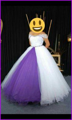 Vestido blanco y violeta! Hermoso👌