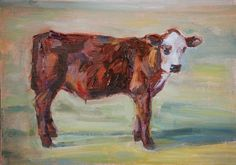 Patches — Cow Painting, Original oil by Carol DeMumbrum, animal painting