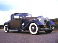 1933 Lincoln KB V-12 3-Window Coupe Brown