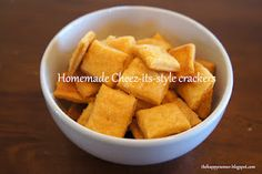 These are AWESOME homemade cheez-its. So easy, so yummy!