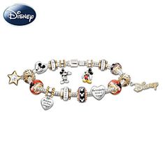 Walt Disney 110th Anniversary Mickey Mouse Charm Bracelet from the Bradford Exchange..My husband bought me this charm bracelet for Christmas.