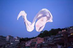 Poetic Floating Faces by Wonjun Jeong – Fubiz Media