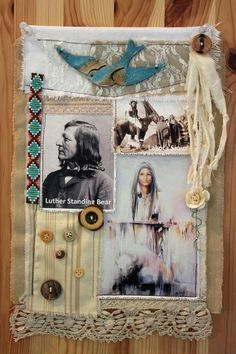 Prayer flag made for one of twin daughters - heritage Oglala Lakota Sioux. Indian name White Buffalo Woman.