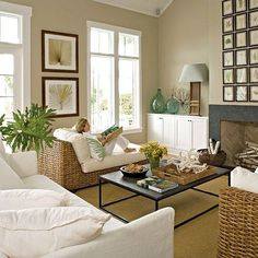 Love this coastal living room