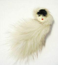Porcelain Brooch with Mink Fur Retro Costume, Vintage Costumes, Pattern Wallpaper, Wallpaper Art, Art Clipart, Head Pins, Paint Shop, Mink Fur, Textile Patterns