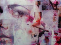Collage op acryl van Sabine Kleiren HTC