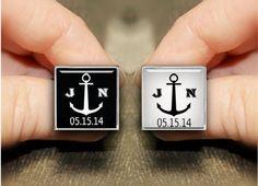 custom initial cufflinks gatsby cufflinks custom by timemonogram