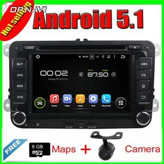 7'' Quad Core Android 5.1 Car GPS For   MAGOTAN/CADDY/PASSAT/ SAGITAR/GOLF/TIGUAN/TOURAN/JETTA/SKODA/SEAT/ CC/POLO/Golf 5