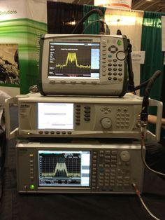 Anritsu 43 GHz handheld spectrum analyzer (top)