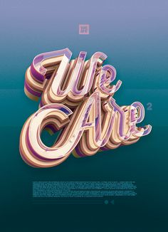 Discover some amazing typography that will inspire you and encourage you to create your own typographic designs that stretch the bounds of design. Creative Typography, Typography Letters, Typography Poster, Graphic Design Typography, 3d Poster, Japanese Typography, Creative Fonts, Poster Ideas, Design 3d