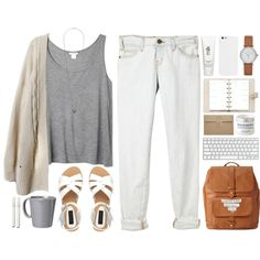 A fashion look from May 2014 featuring Monki tops, Current/Elliott jeans and Forever New sandals. Browse and shop related looks.