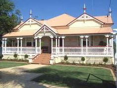 Image result for wrought iron verandah lace Australian Houses, Wrought Iron, Homes, Mansions, House Styles, Lace, Home Decor, Houses, Decoration Home