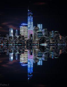NYC at Night by Padma Inguva on 500px