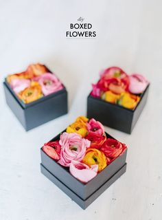 DIY gifts: DIY Flowers in a box www.apairandaspar...