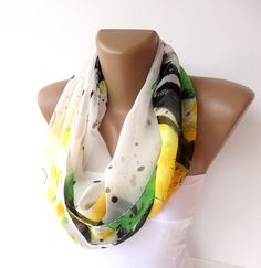 infinity scarf chiffon scarf loopcircle scarves sewing by seno, $15.00