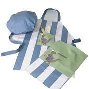 Doyouthinkysaurus Baking Set.    5 piece - apron, chef's hat, tea towel, wooden spoon & rolling pin.