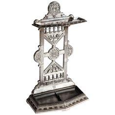 Victorian Polished Cast Iron Hall Umbrella Stand