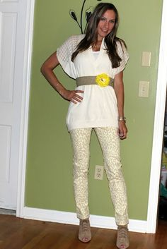 Pretty summer dressing: creams, whites and yellow