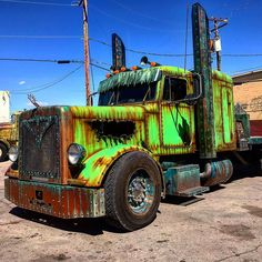 pics of rat rod trucks Dually Trucks, Peterbilt Trucks, Big Rig Trucks, Hot Rod Trucks, Diesel Trucks, Cool Trucks, Semi Trucks, Peterbilt 379, Custom Big Rigs