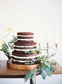 Naked chocolate cake made by Pylon Cake   Photo by Chris Isham